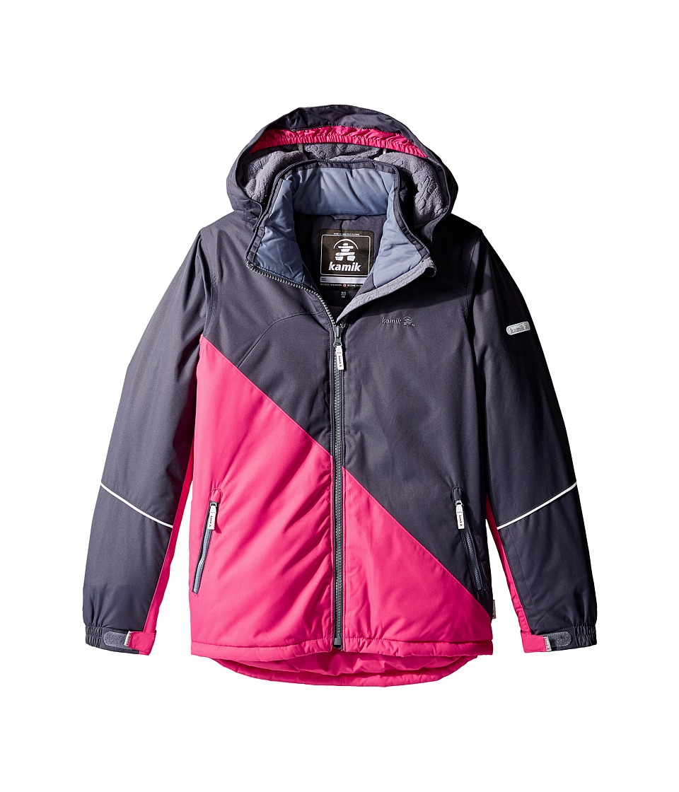 Kamik Kids - Aria Colour Block Jacket (Little Kids/Big Kids) (Cerise) Girl's Coat