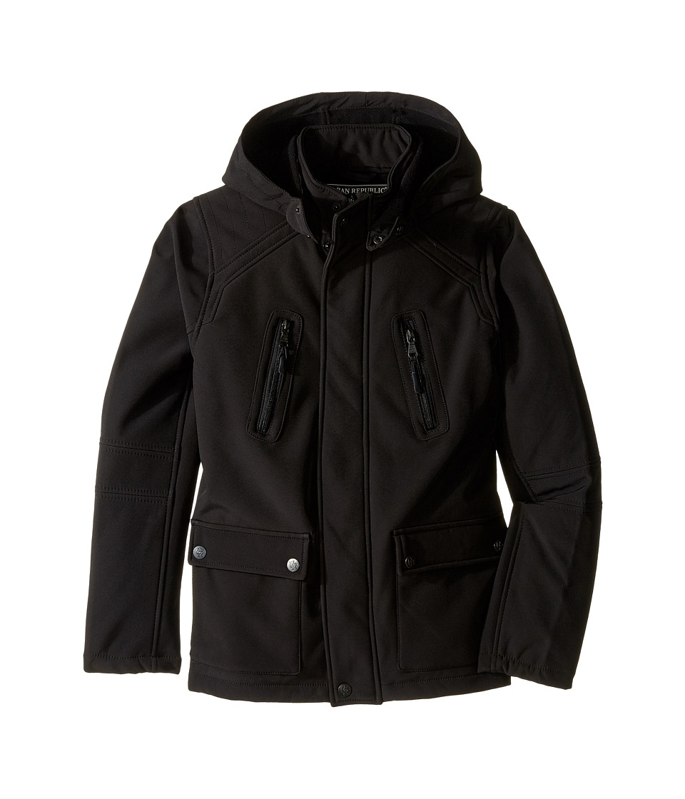 Urban Republic Kids - Soft Shell Zip-Off Hood Jacket (Big Kids) (Black) Boy's Coat