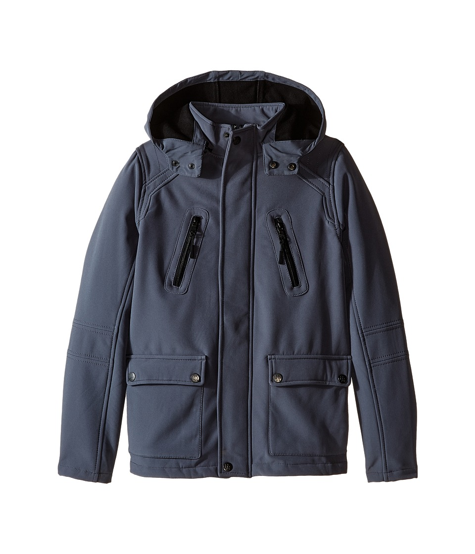 Urban Republic Kids - Soft Shell Zip-Off Hood Jacket (Big Kids) (Pewter) Boy's Coat