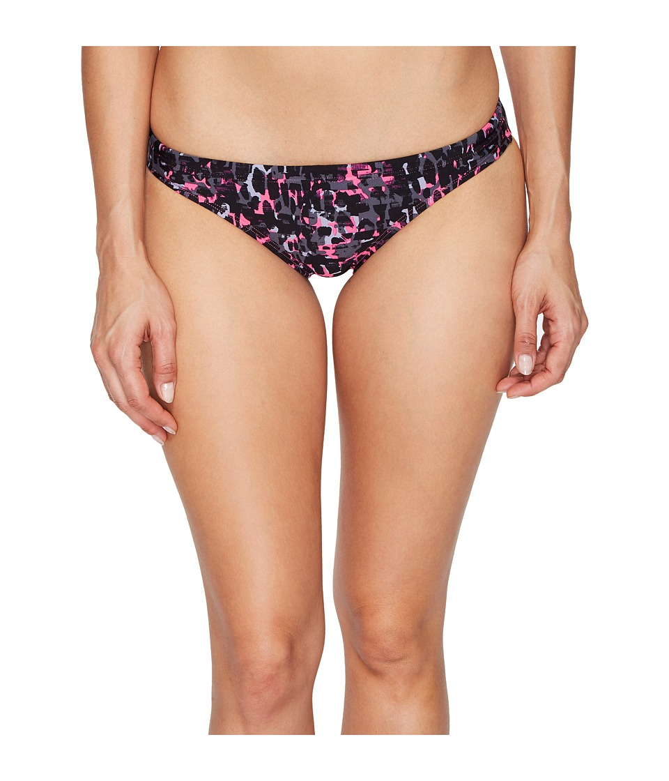 Speedo - Print Bikini Bottom (Power Pink) Women's Swimwear