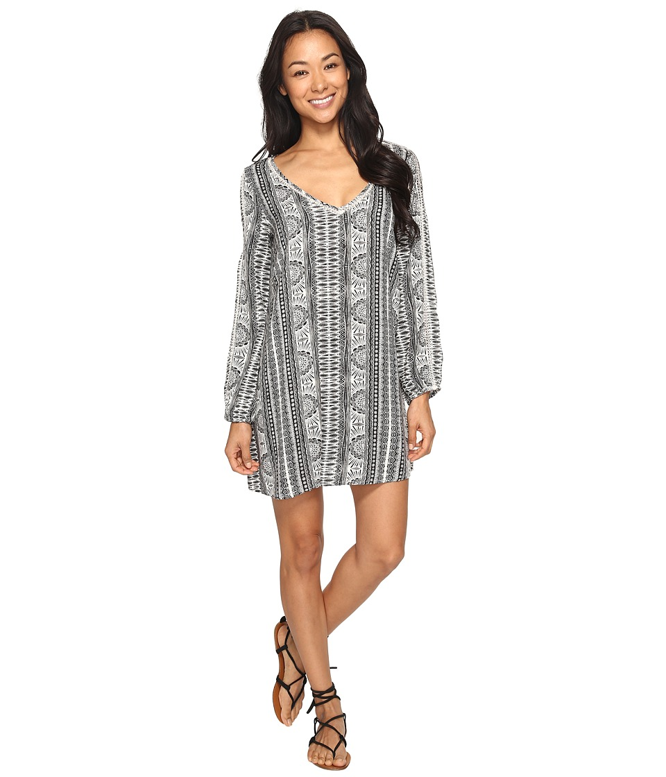 Roxy - April Morning Long Sleeve Dress (Marshmallow Sun Pyramid) Women's Dress