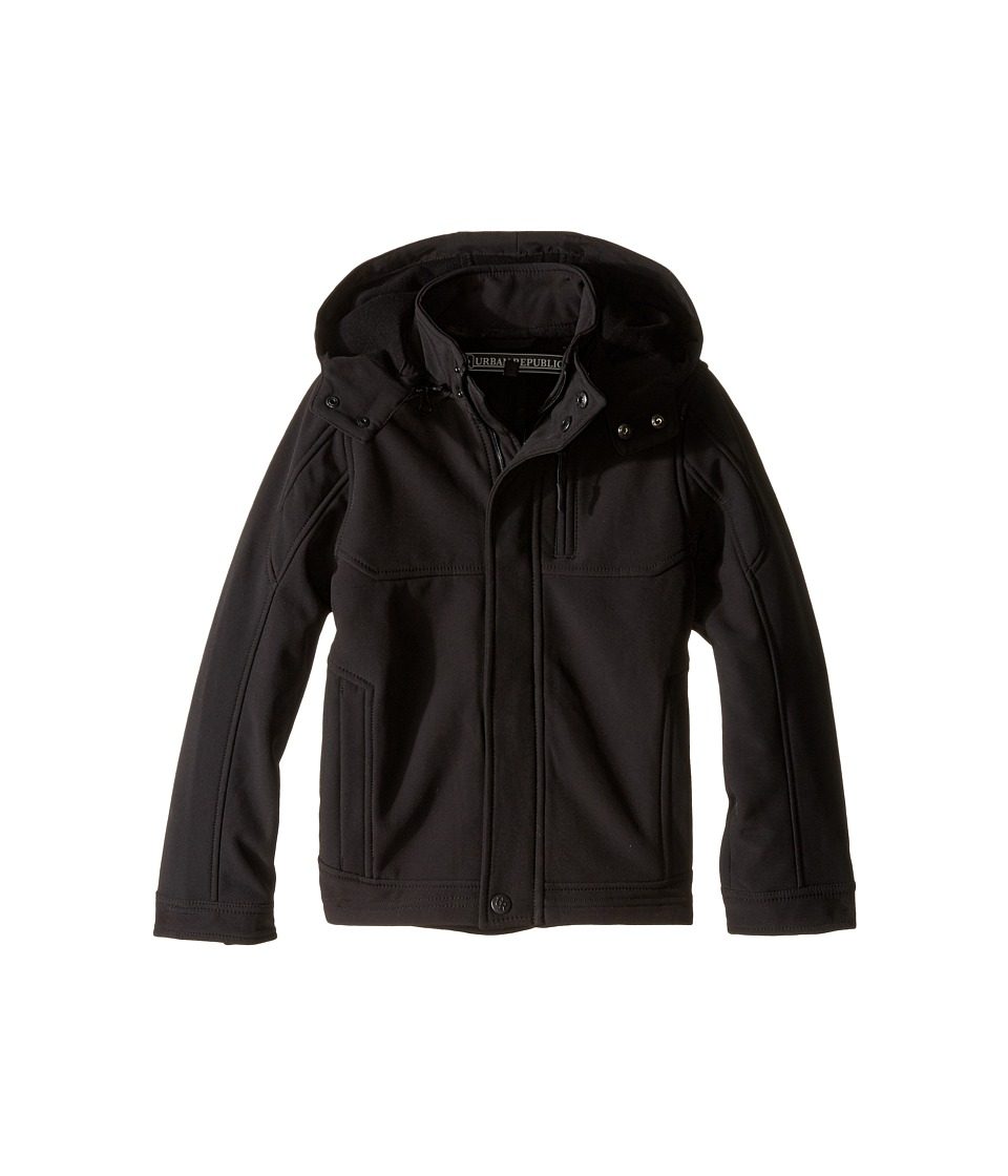 Urban Republic Kids - Mixed Media Soft Shell (Little Kids) (Black 2) Boy's Coat
