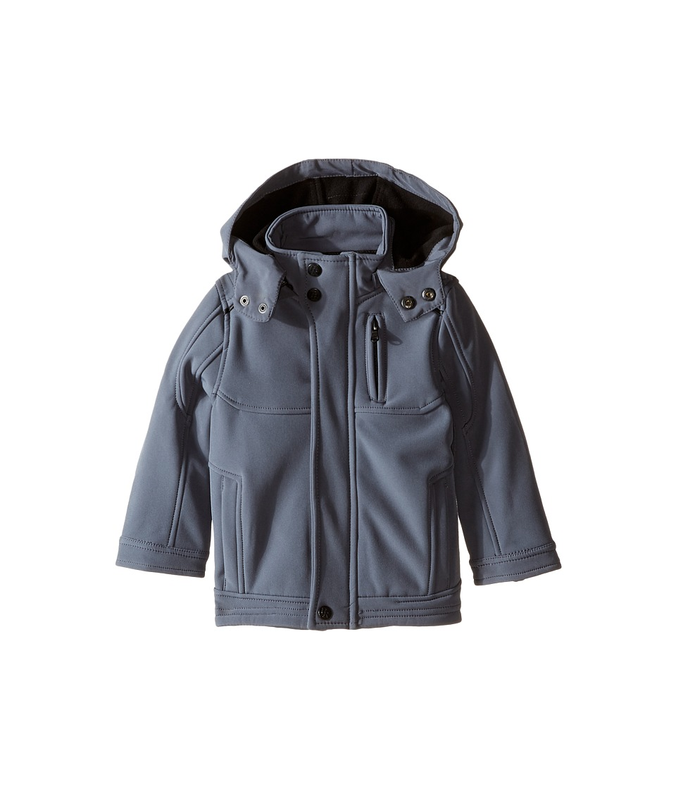 Urban Republic Kids - Mixed Media Soft Shell (Infant/Toddler) (Pewter) Boy's Coat