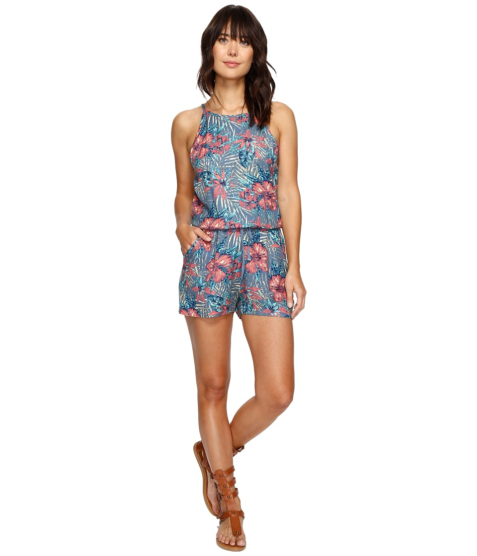 Roxy - Hooked On A Feeling Romper (Captains Blue Beyond Love) Women's Jumpsuit & Rompers One Piece