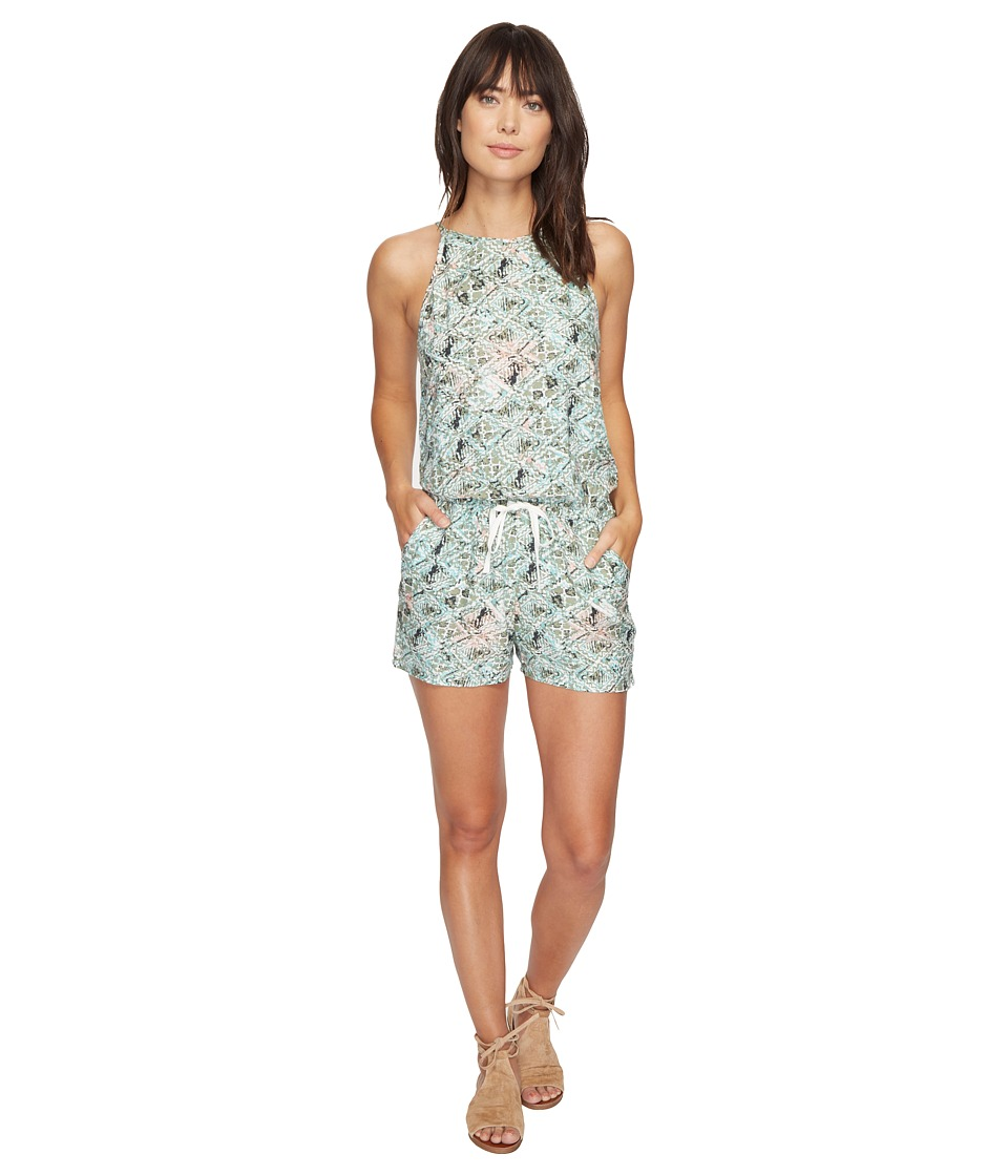 Roxy - Hooked On A Feeling Romper (Raw Diamond Combo Oil Green) Women's Jumpsuit & Rompers One Piece
