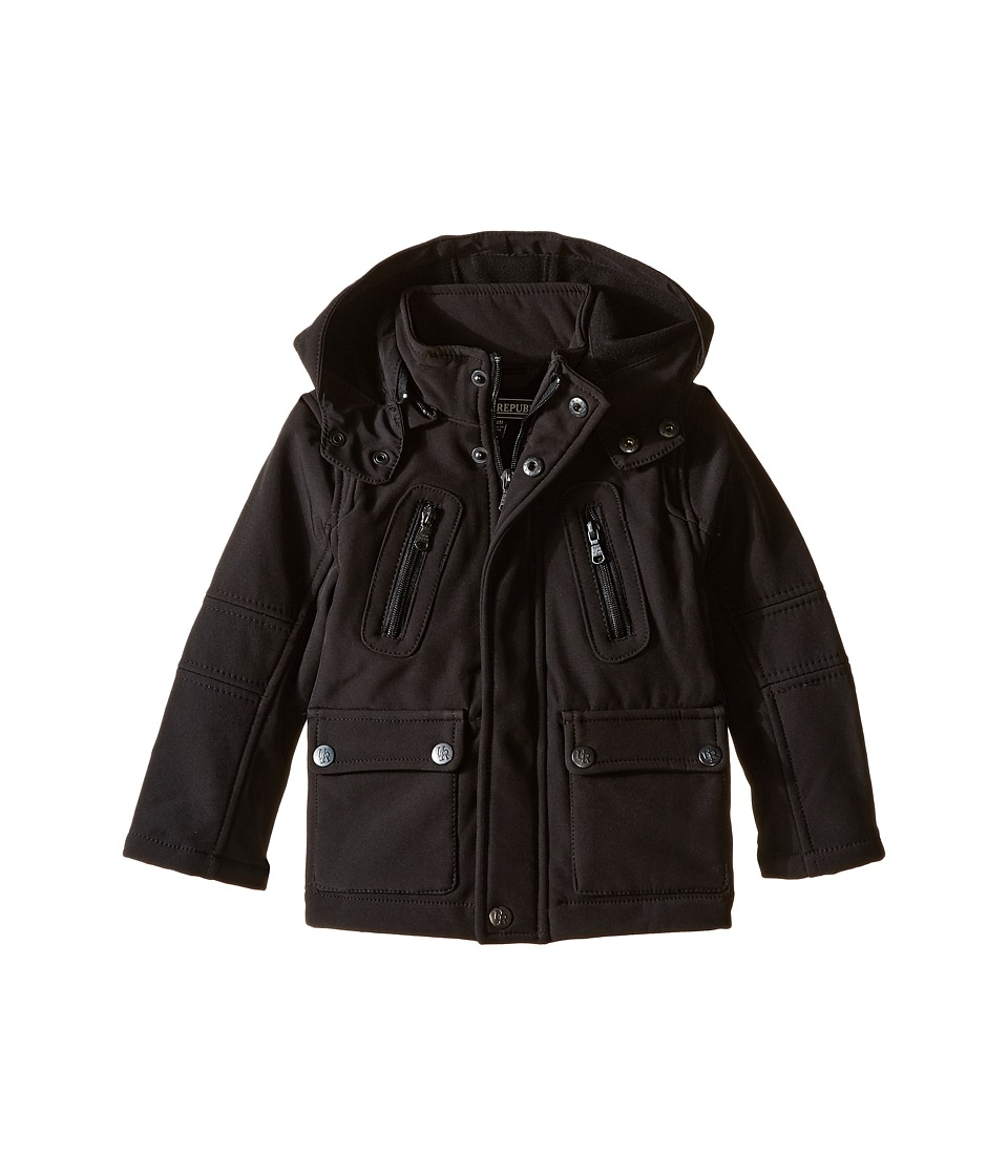 Urban Republic Kids - Mixed Media Soft Shell (Infant/Toddler) (Black) Boy's Coat