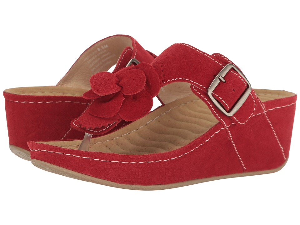 David Tate - Spring (Red Suede) Women's Clog/Mule Shoes