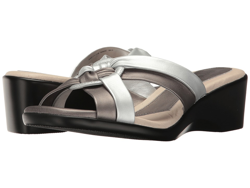 David Tate - Verona (Silver Lamb) Women's Clog/Mule Shoes