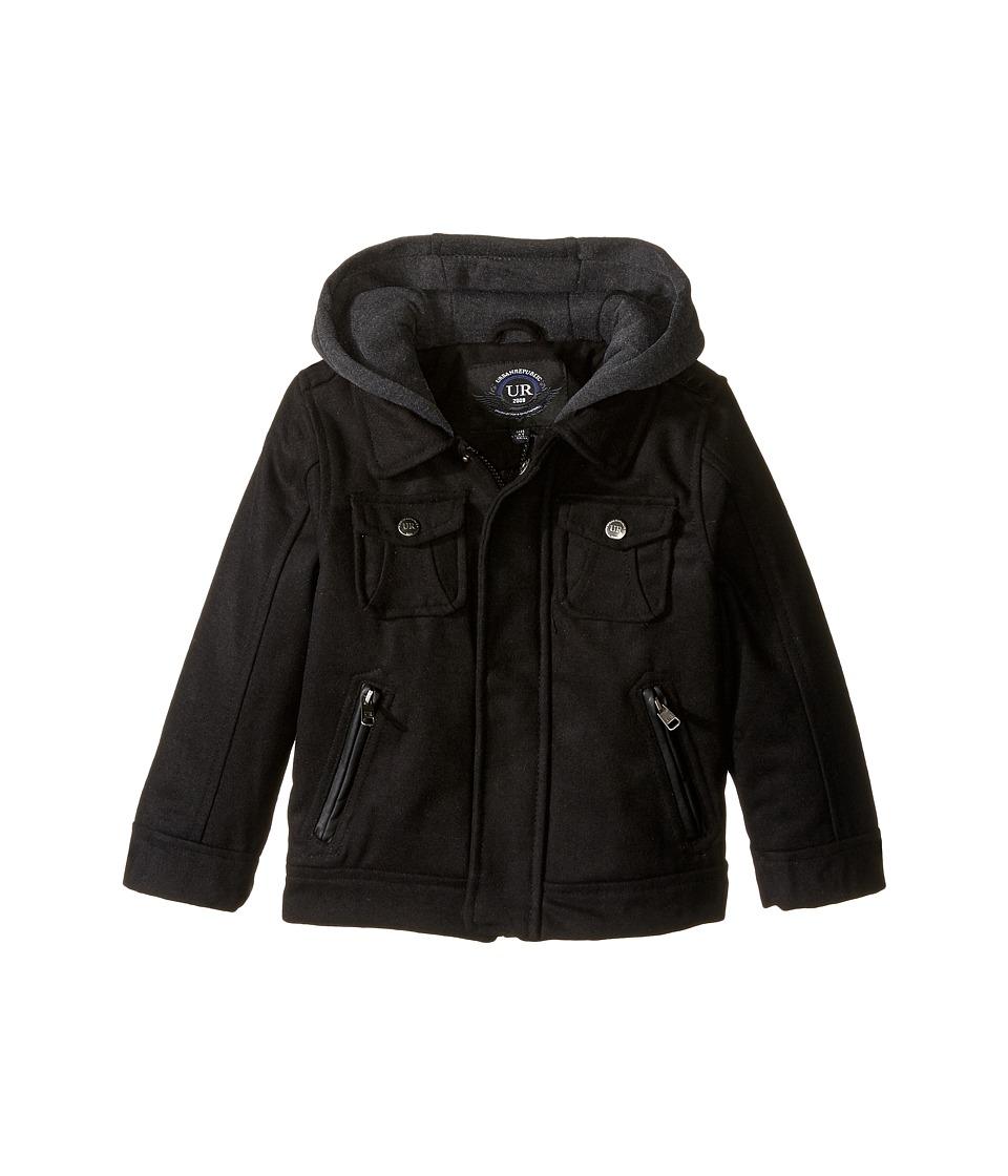 Urban Republic Kids - Wool Officers Jacket (Infant/Toddler) (Black) Boy's Coat