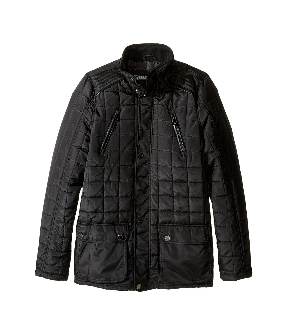 Urban Republic Kids - Mixed Media Thinfill Quilt Jacket (Big Kids) (Black) Boy's Coat