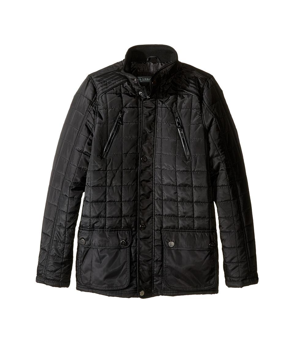 Urban Republic Kids - Mixed Media Thinfill Quilt Jacket (Big Kids) (Black) Boy's Coat