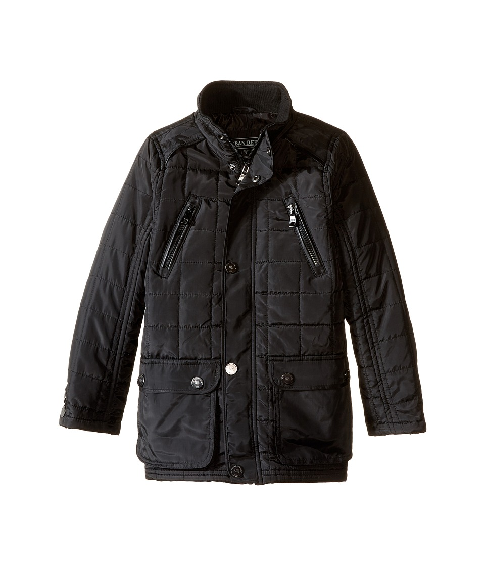 Urban Republic Kids - Mixed Media Thinfill Quilt Jacket (Little Kids) (Black) Boy's Coat
