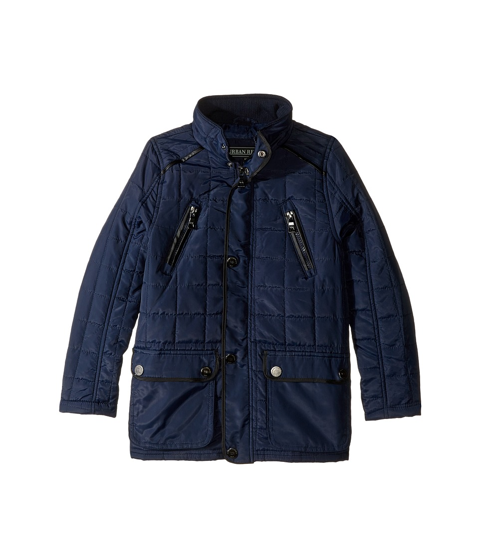 Urban Republic Kids - Mixed Media Thinfill Quilt Jacket (Little Kids) (Navy) Boy's Coat