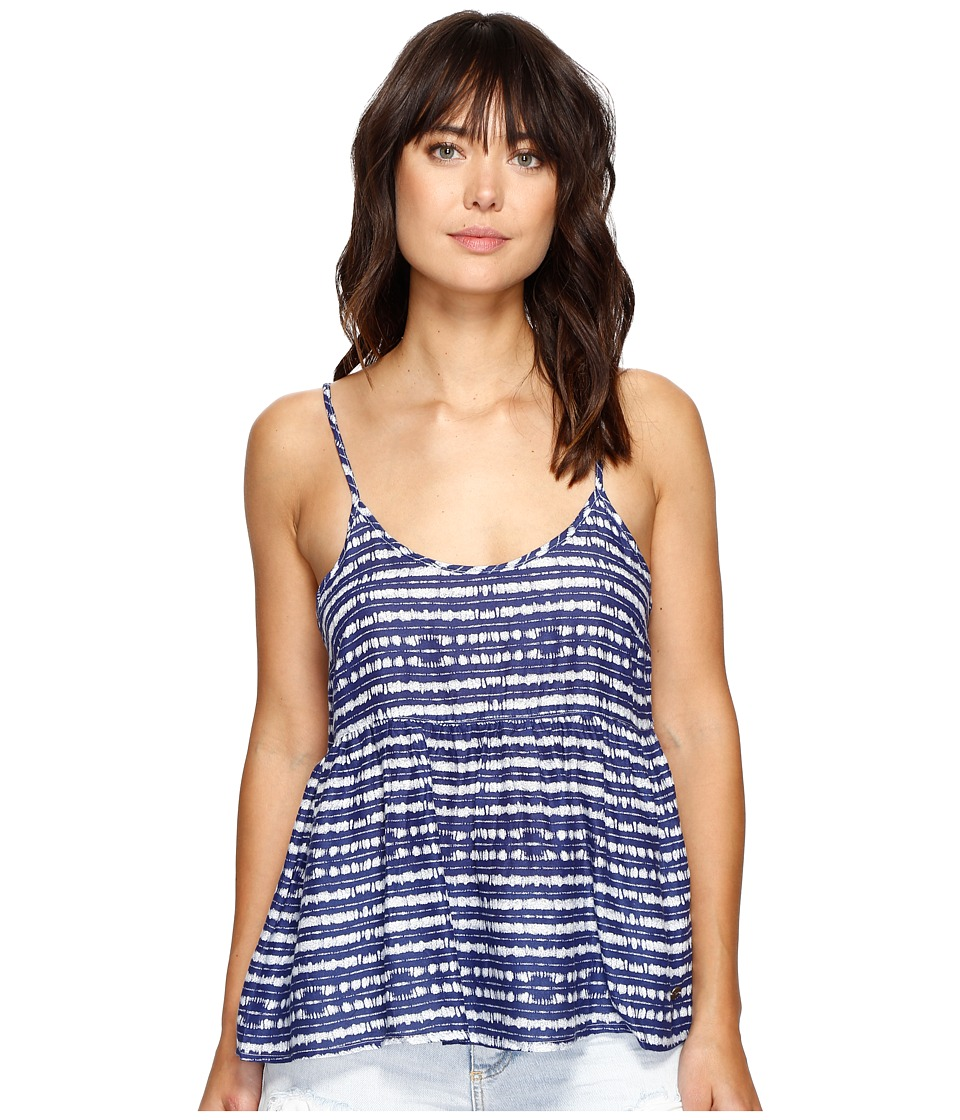 Roxy - Retro Gold Top (Blue Depths Olmeque Stripe) Women's Sleeveless