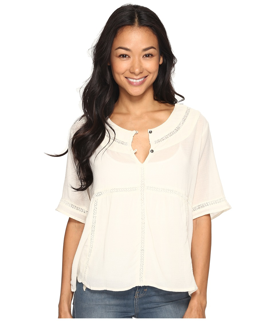 Roxy - Zapotec Top (Marshmallow) Women's Clothing
