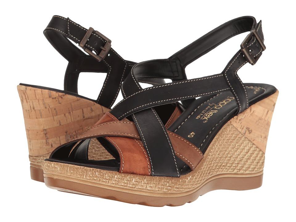 David Tate - Modena (Black Multi) Women's Wedge Shoes