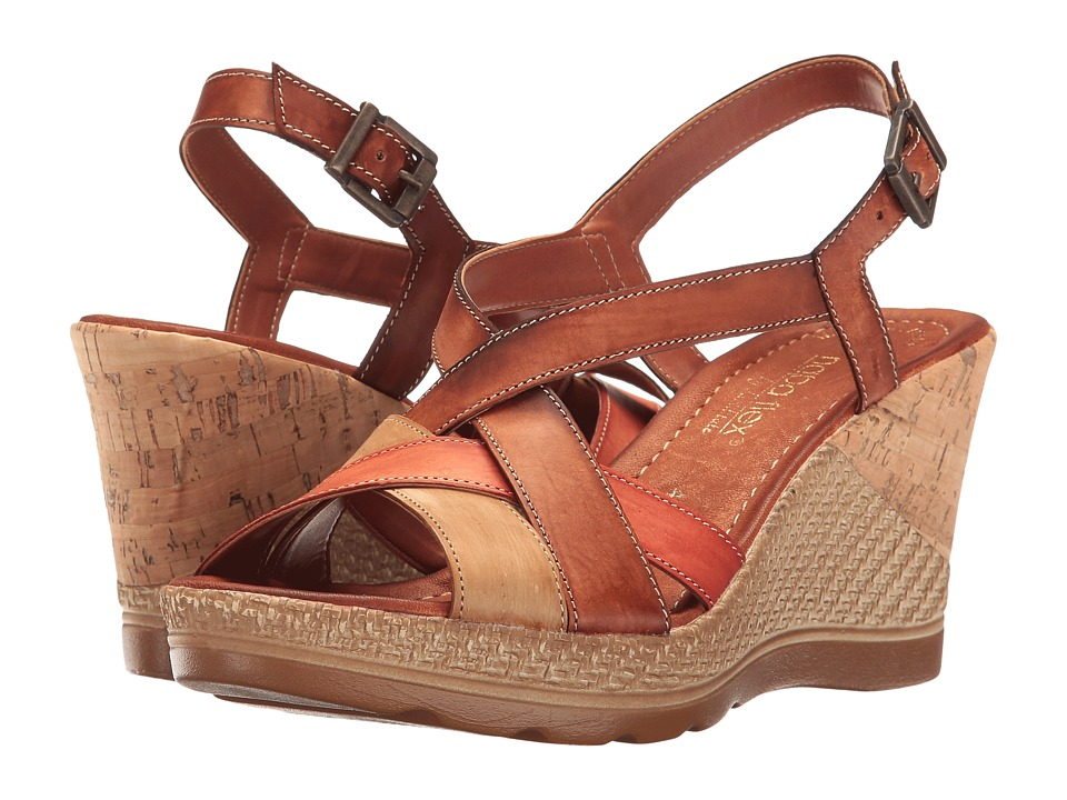David Tate - Modena (Cognac Multi) Women's Wedge Shoes