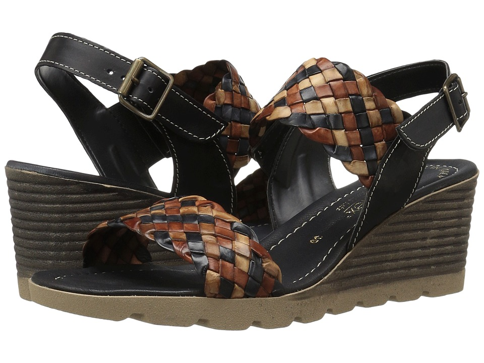 David Tate - Cool (Black Multi) Women's Wedge Shoes