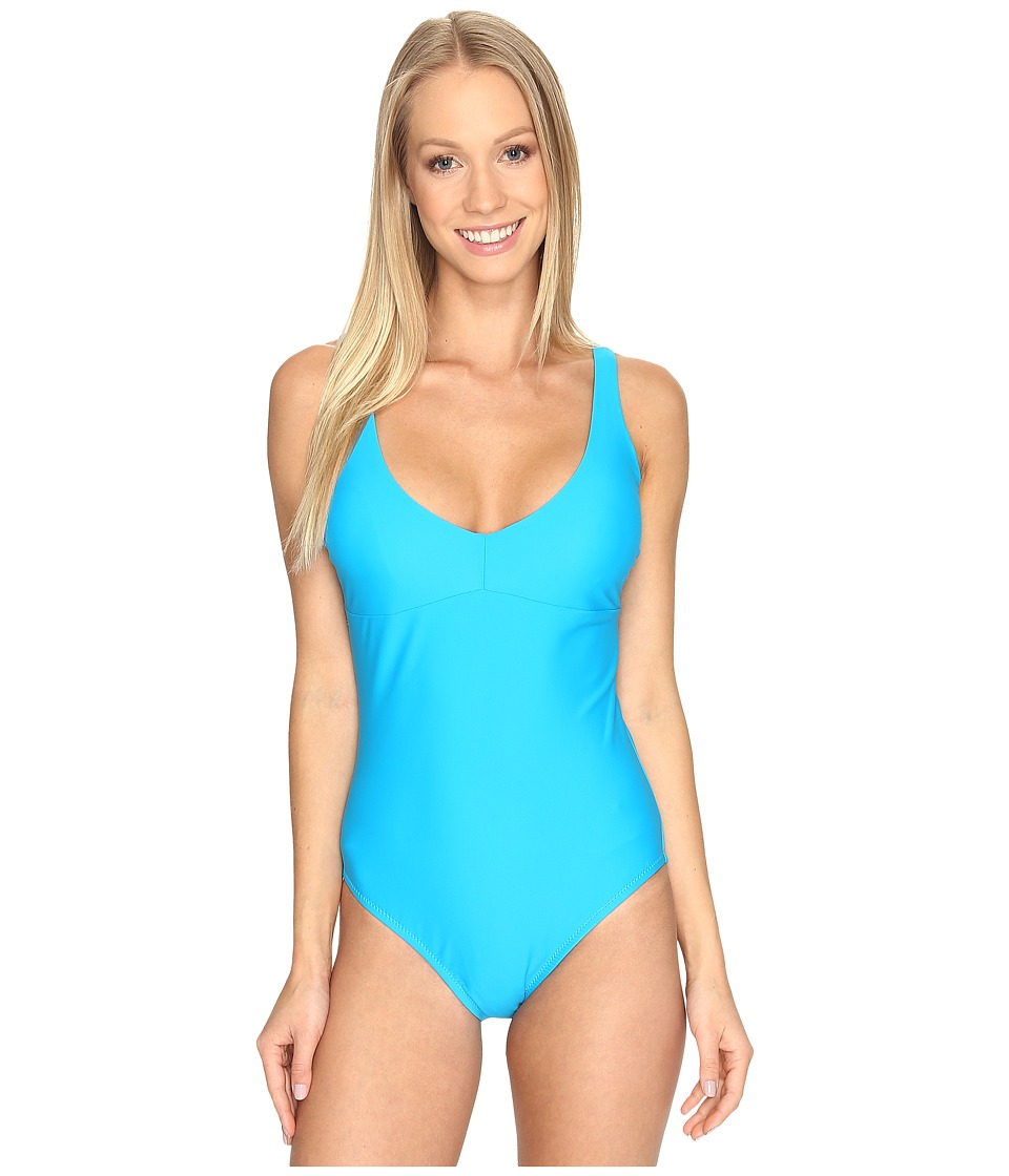 Speedo - Strappy One-Piece (Peacock Blue) Women's Swimsuits One Piece