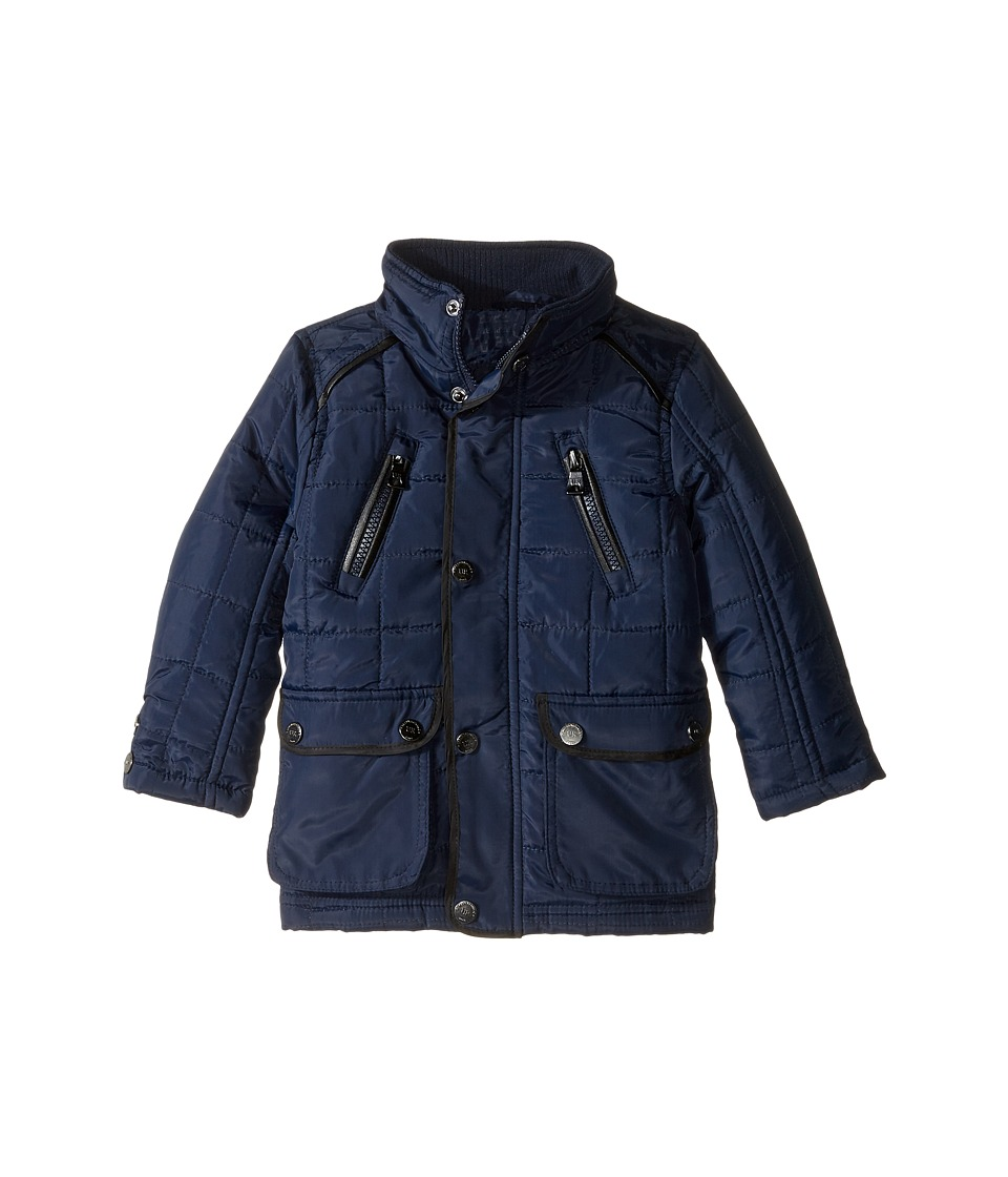 Urban Republic Kids - Mixed Media Thinfill Quilt Jacket (Infant/Toddler) (Navy) Boy's Coat