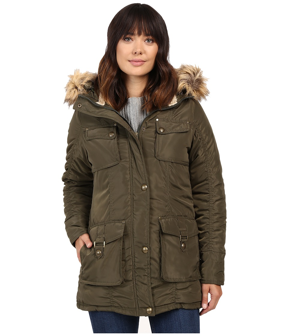 Steve Madden - Multi Pocket Parka (Olive) Women's Coat