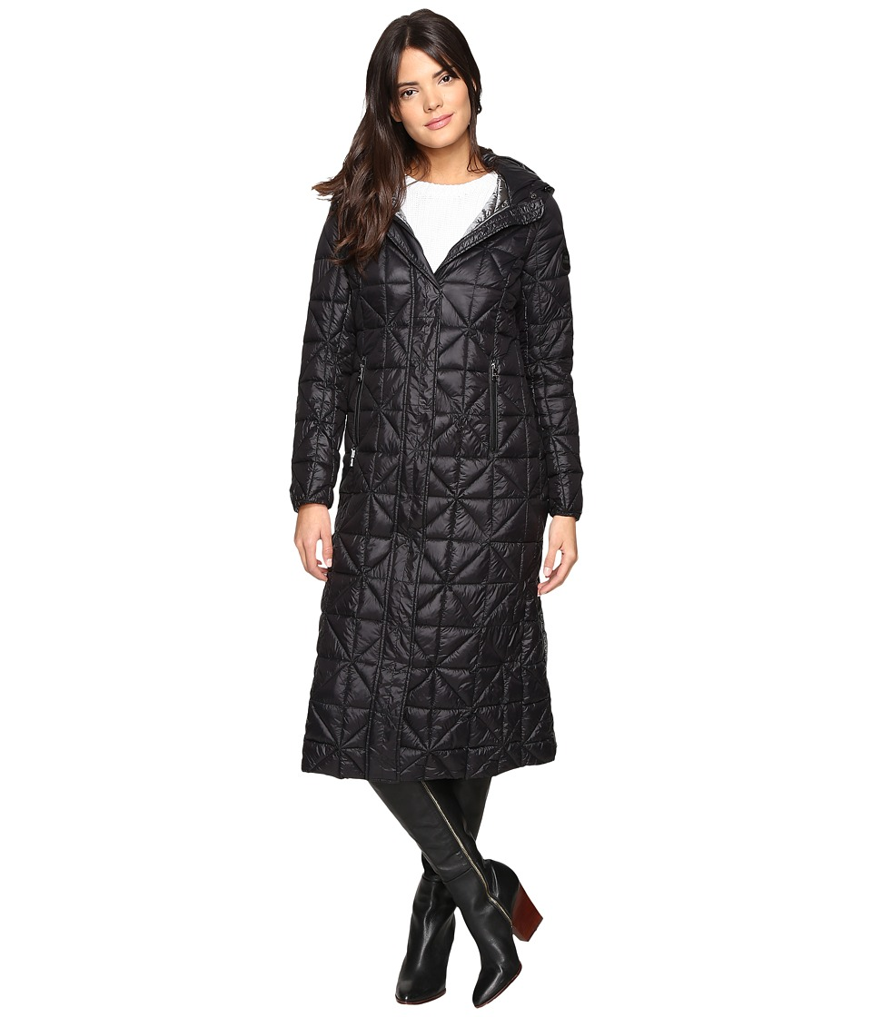 Steve Madden - Glacier Shield Maxi Puffer Coat (Black) Women's Coat