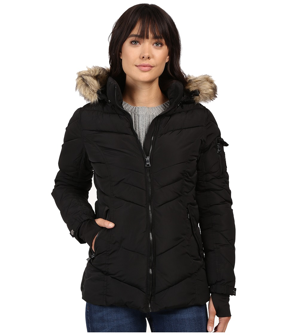 Steve Madden - Puffer Jacket (Black) Women's Coat