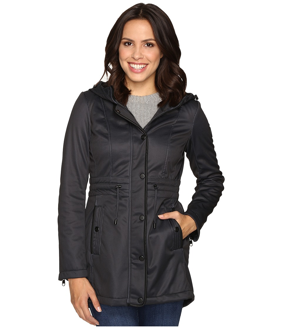 Steve Madden - Glacier Shield Anorak (Black Print) Women's Coat