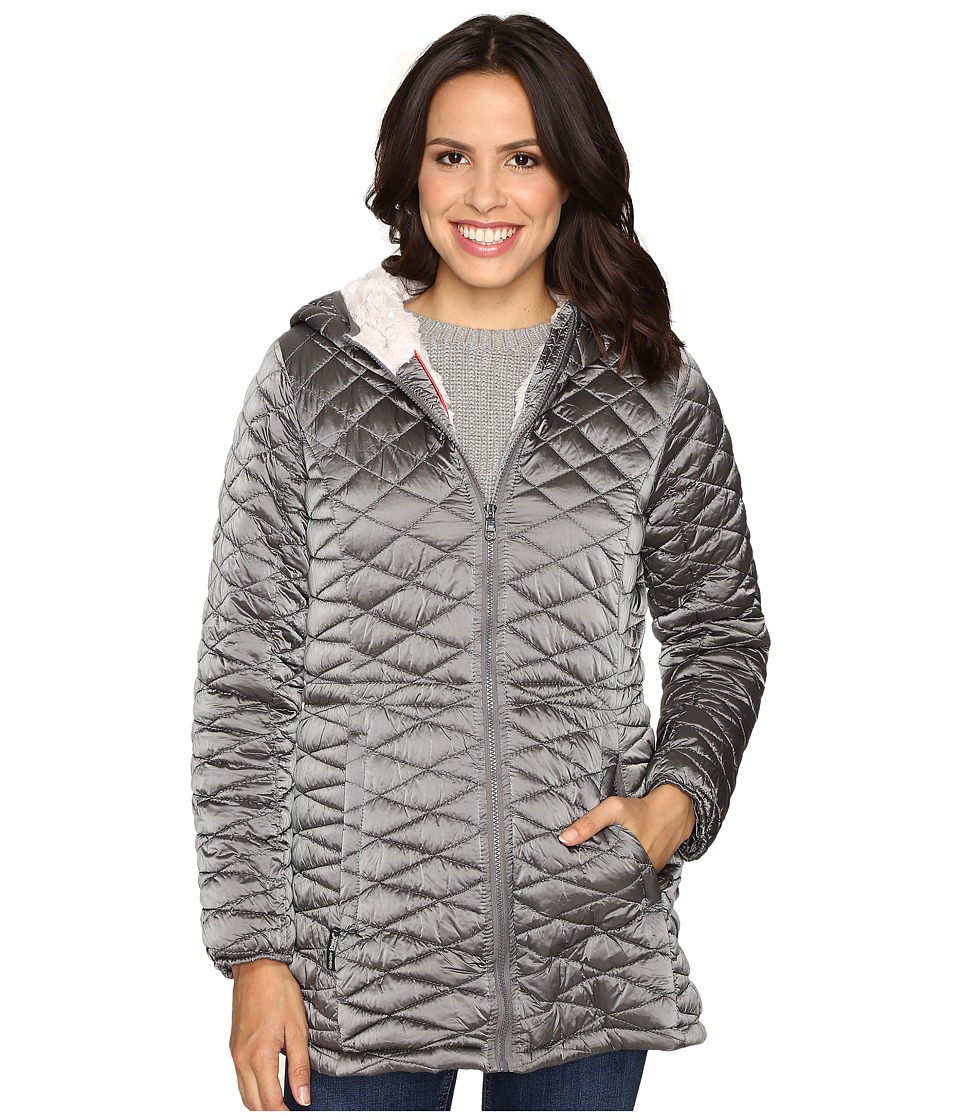 Steve Madden - Quilted Glacier Shield Coat (Titanium) Women's Coat