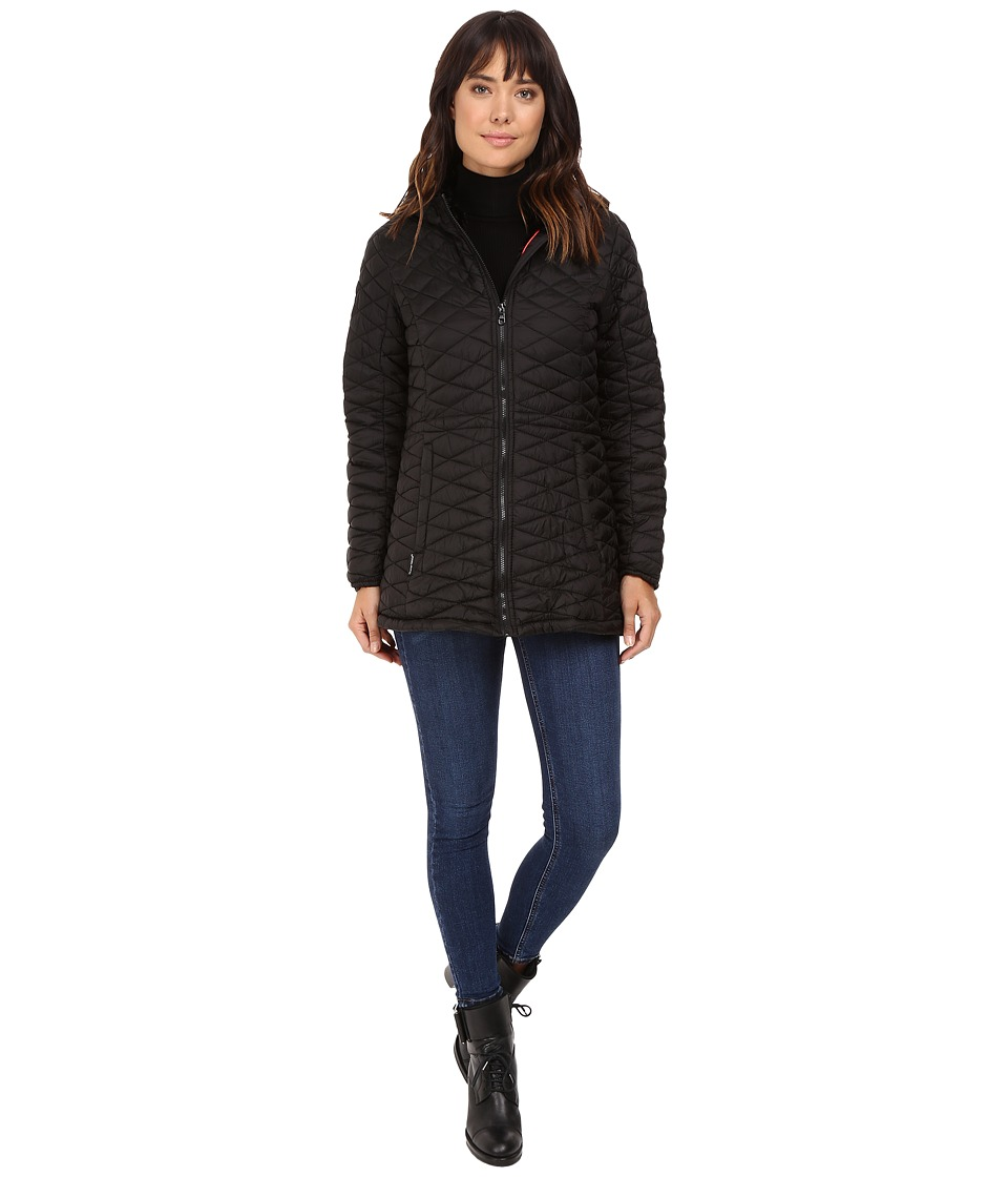 Steve Madden - Quilted Glacier Shield Coat (Black/Black) Women's Coat