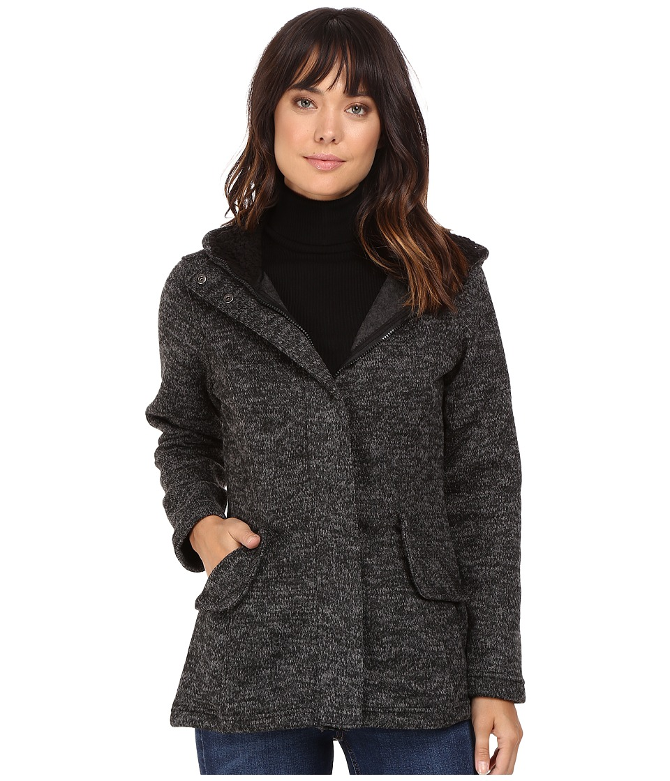 Steve Madden - High-Low Sweater Coat (Charcoal Heather) Women's Coat