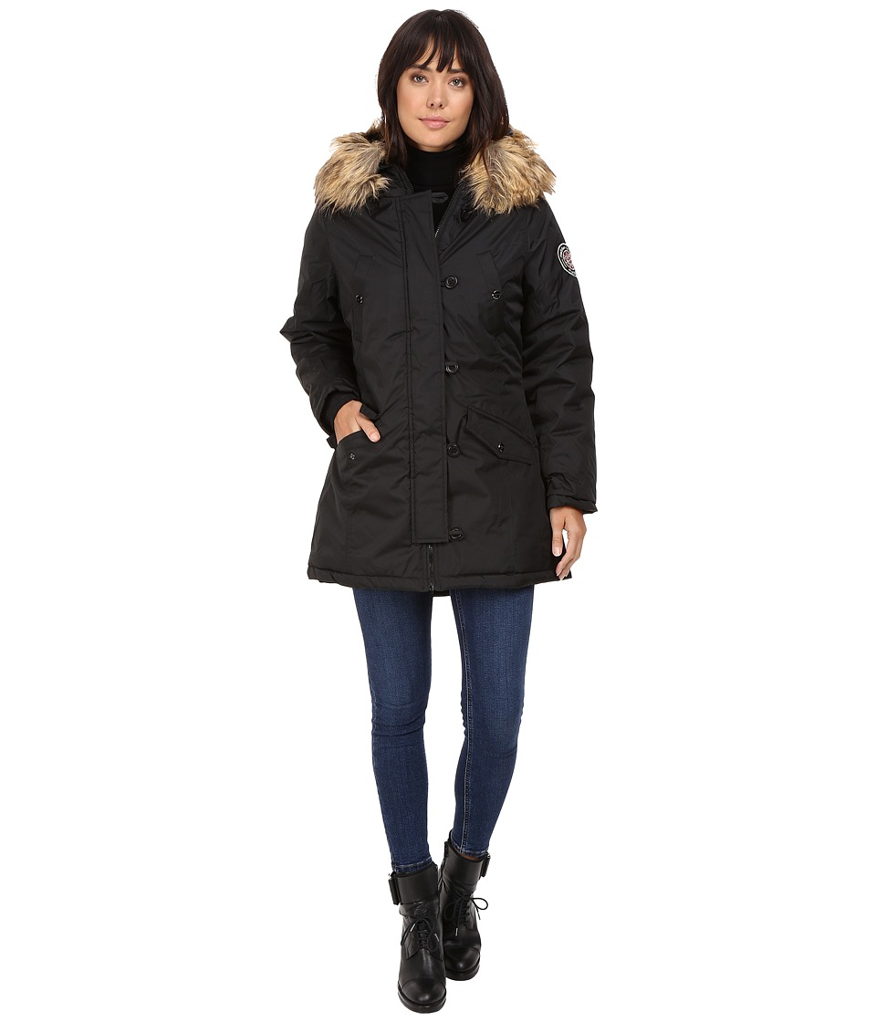 Steve Madden - Insulated Parka (Black) Women's Coat