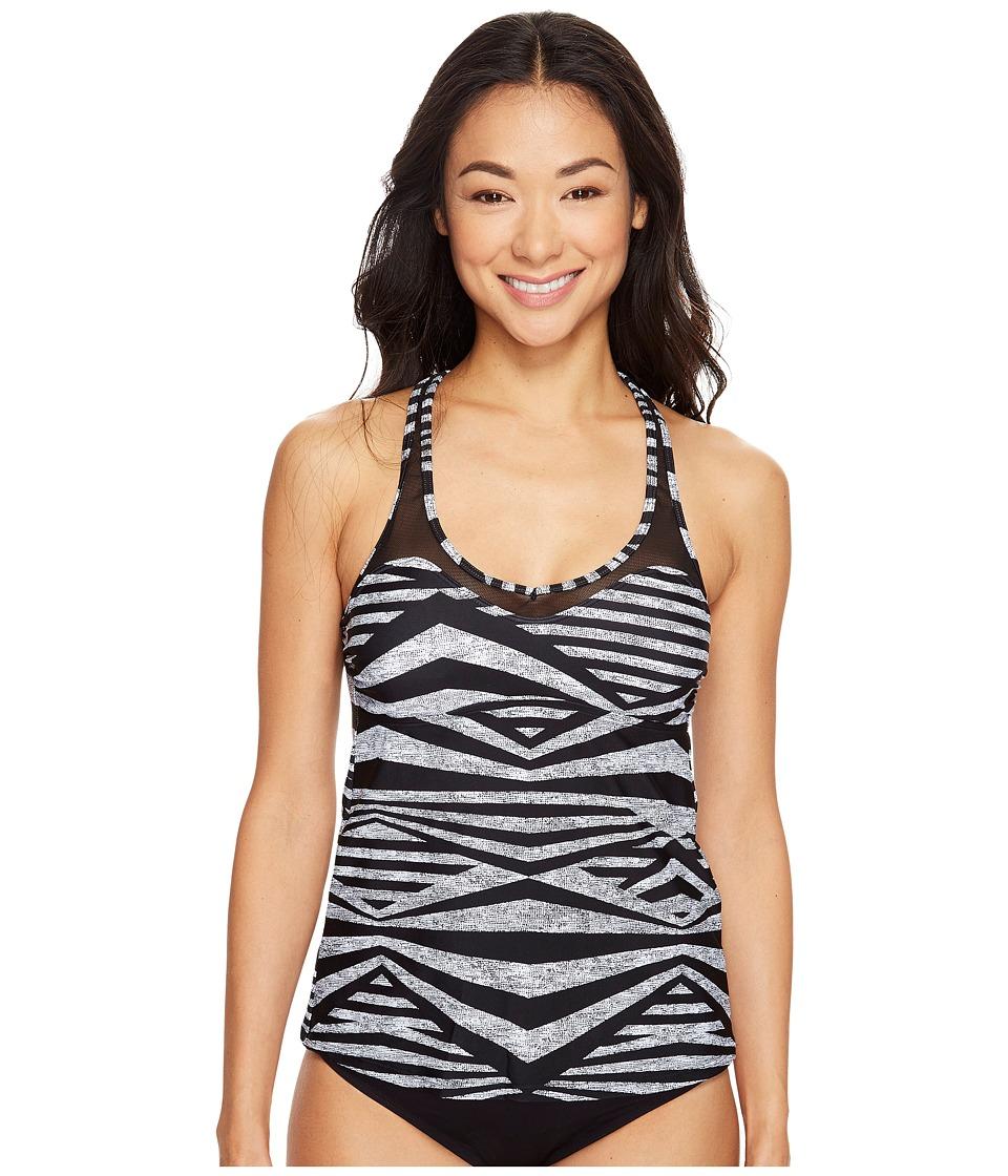 Speedo - Mesh Tankini Top (Speedo Black) Women's Swimwear