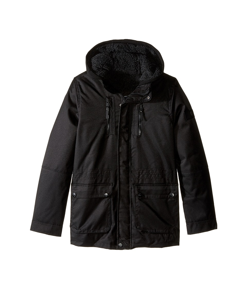 Urban Republic Kids - Sherpa Lined Ballistic Coat (Big Kids) (Black 2) Boy's Coat