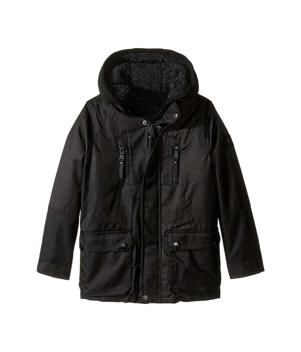 Urban Republic Kids - Sherpa Lined Ballistic Coat (Little Kids) (Black 2) Boy's Coat