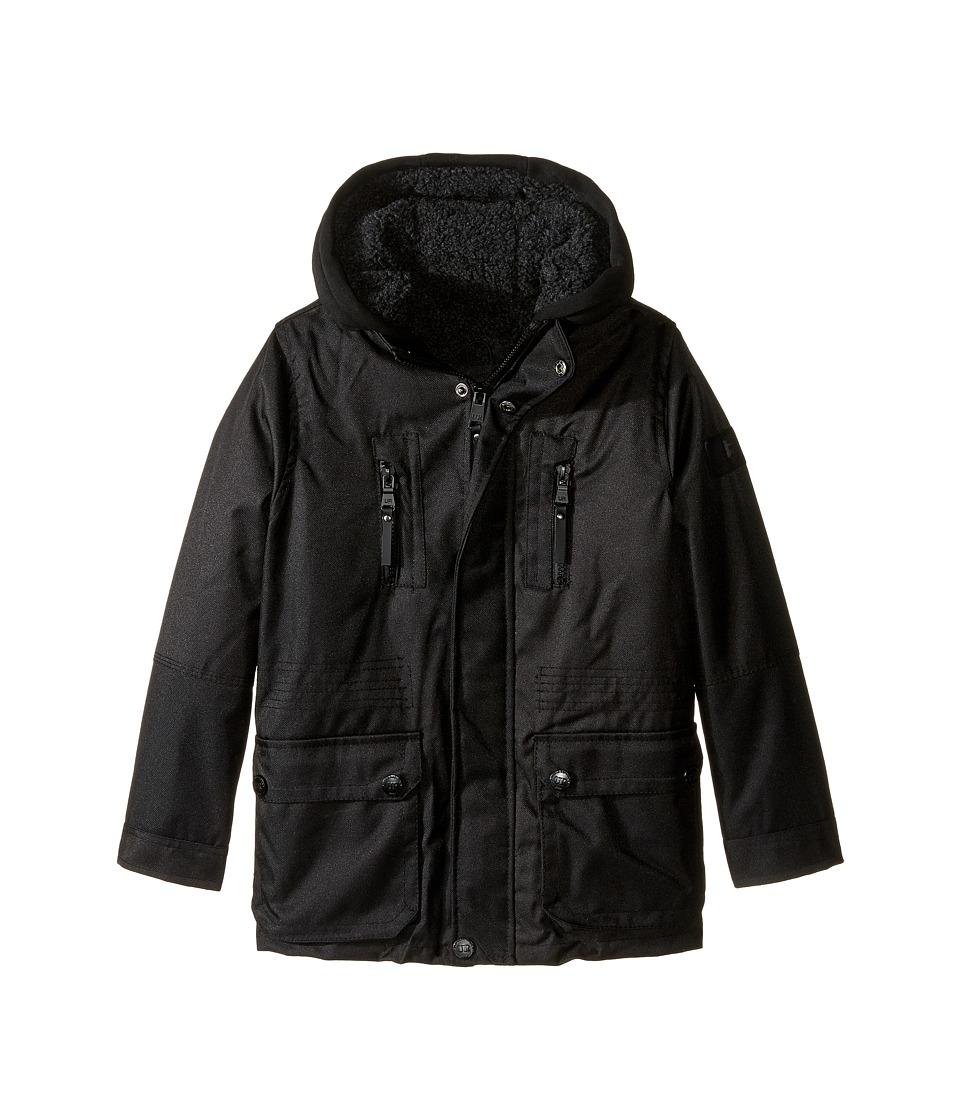 Urban Republic Kids - Sherpa Lined Ballistic Coat (Little Kids) (Black 2) Boy's Coat