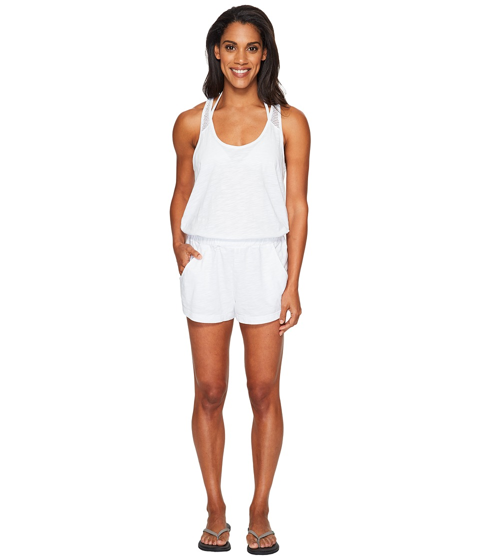 Speedo - Romper Cover-Up (White) Women's Swimsuits One Piece