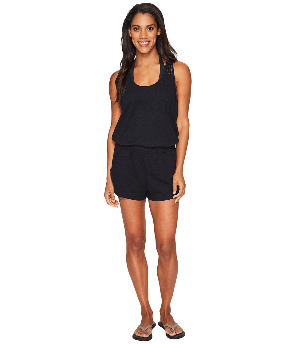 Speedo - Romper Cover-Up (Speedo Black) Women's Swimsuits One Piece