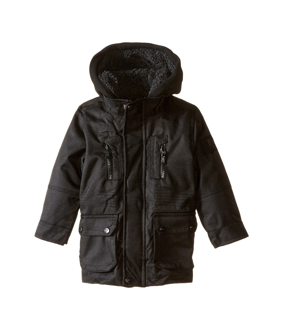 Urban Republic Kids - Sherpa Lined Ballistic Coat (Infant/Toddler) (Black) Boy's Coat
