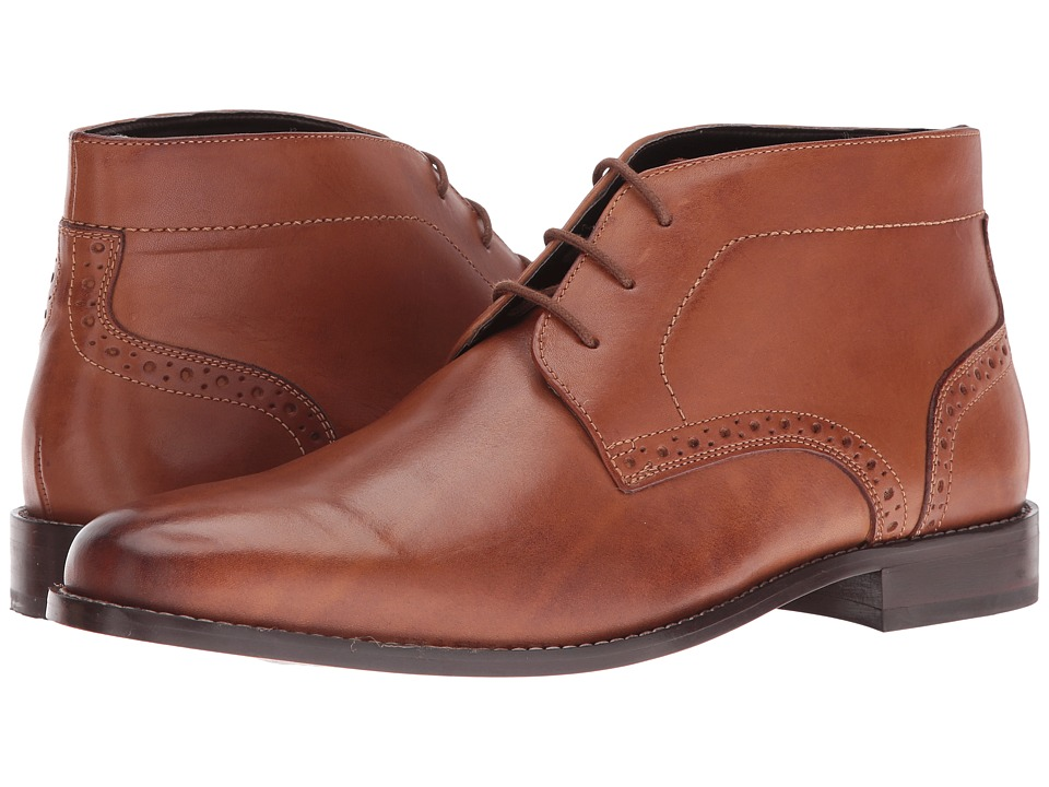 Nunn Bush Nathaniel Plain Toe Chukka Boot (Cognac) Men