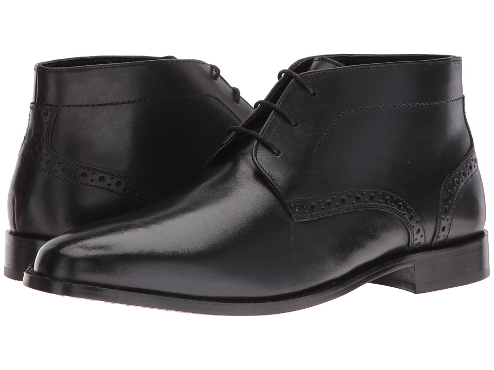 Nunn Bush Nathaniel Plain Toe Chukka Boot (Black) Men