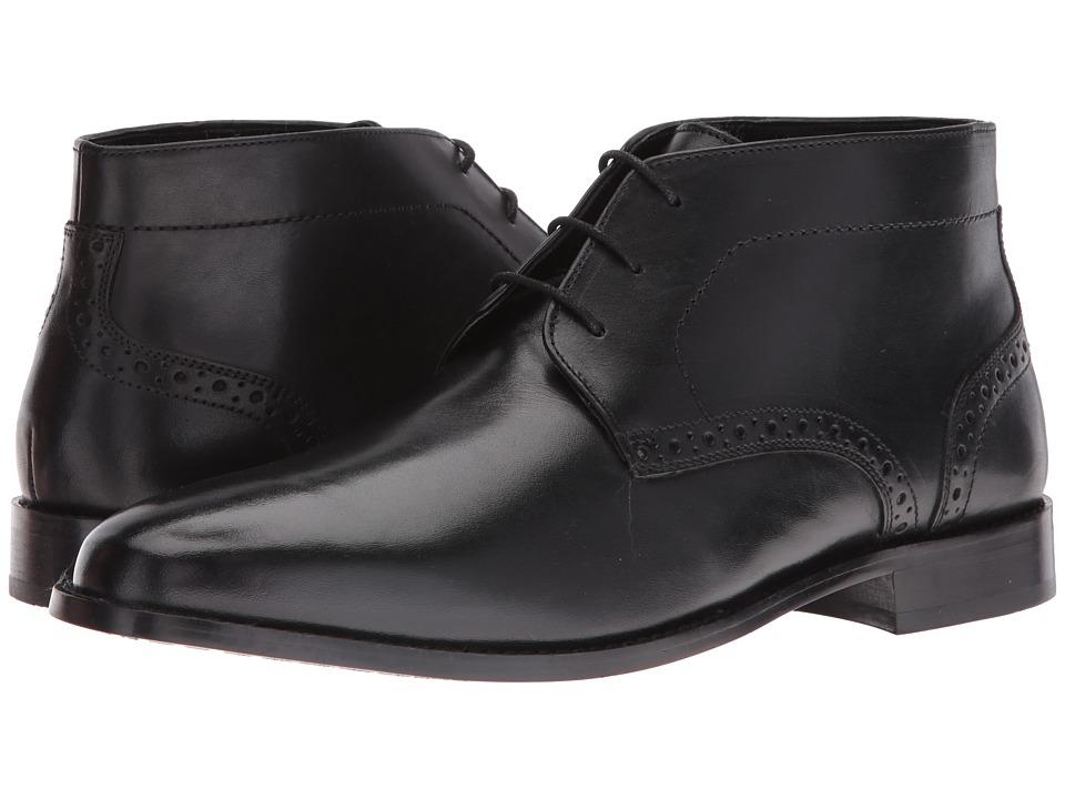 Nunn Bush Nathaniel Plain Toe Chukka Boot (Black) Men