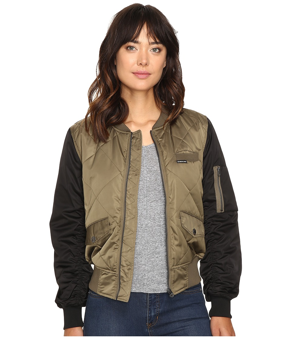Members Only - Diamond Quilted Bomber Jacket (Olive) Women's Coat