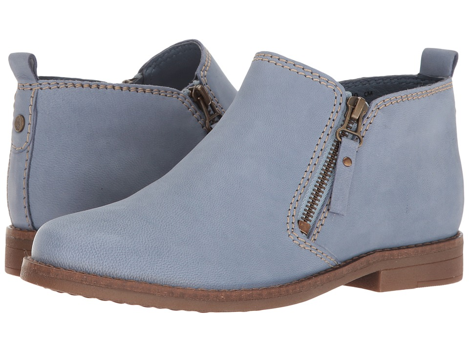 Hush Puppies - Mazin Cayto (Powder Blue Nubuck) Women's Zip Boots