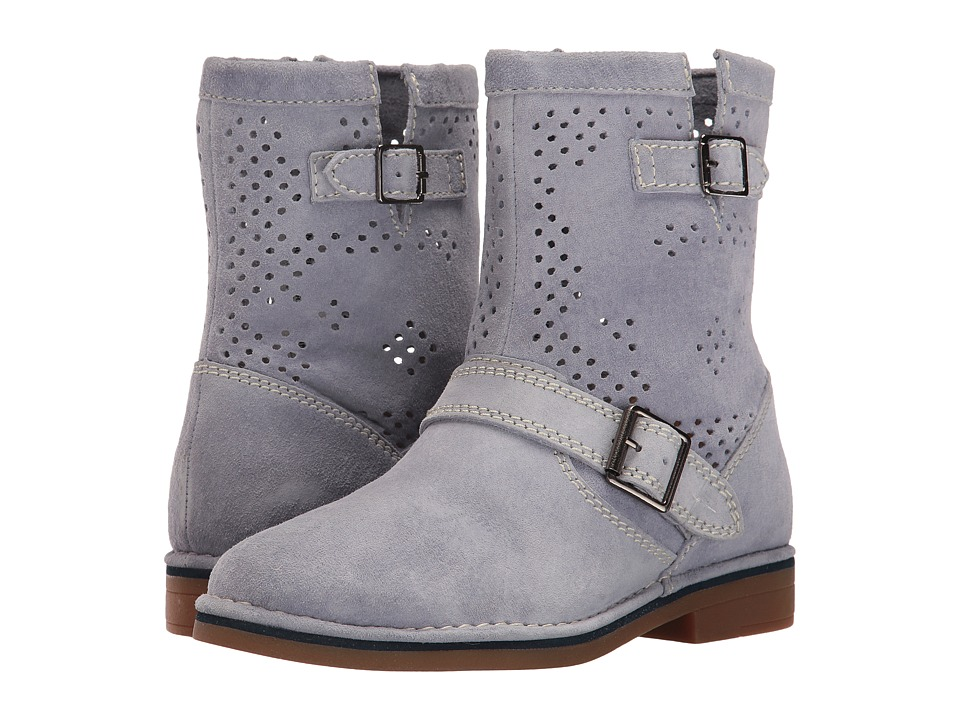 Hush Puppies Aydin Catelyn Perf (Powder Blue Suede) Women