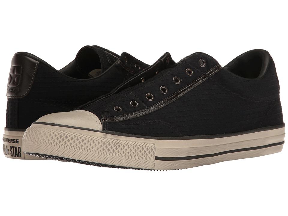 Converse by John Varvatos Chuck Taylor(r) All Star(r) Vintage Crinkle Seersucker (Black/Turtledove/Beluga) Shoes