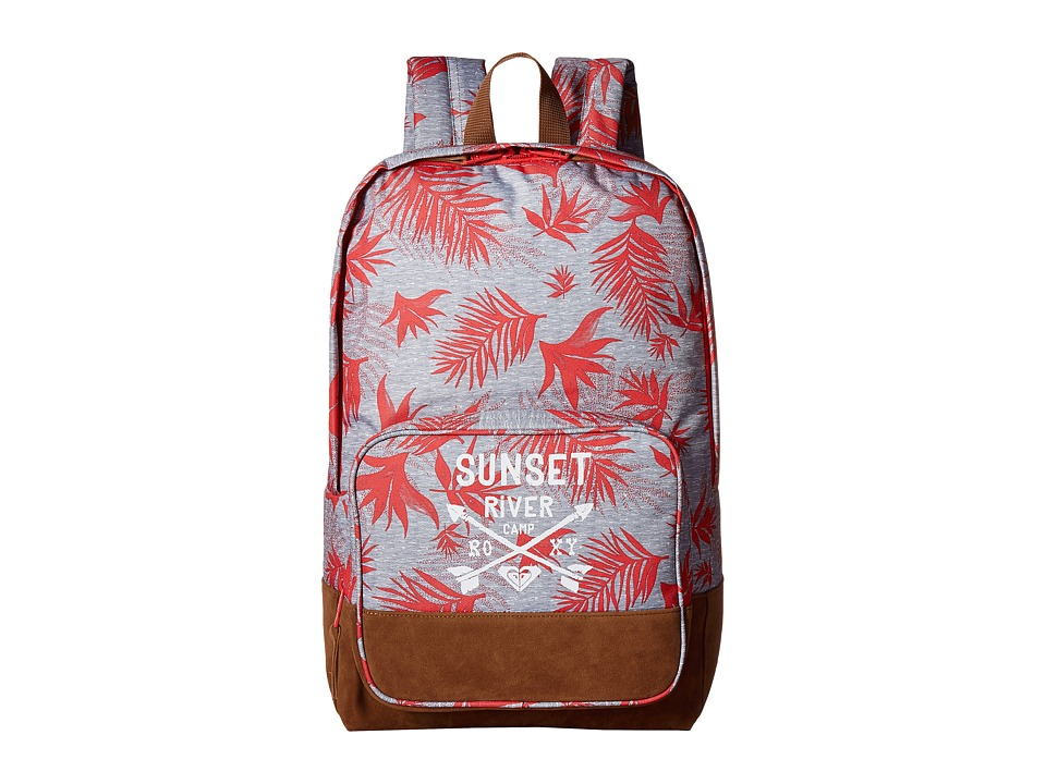 Roxy - Pink Sky Girl Backpack (Indo Floral Heritage Heather) Backpack Bags