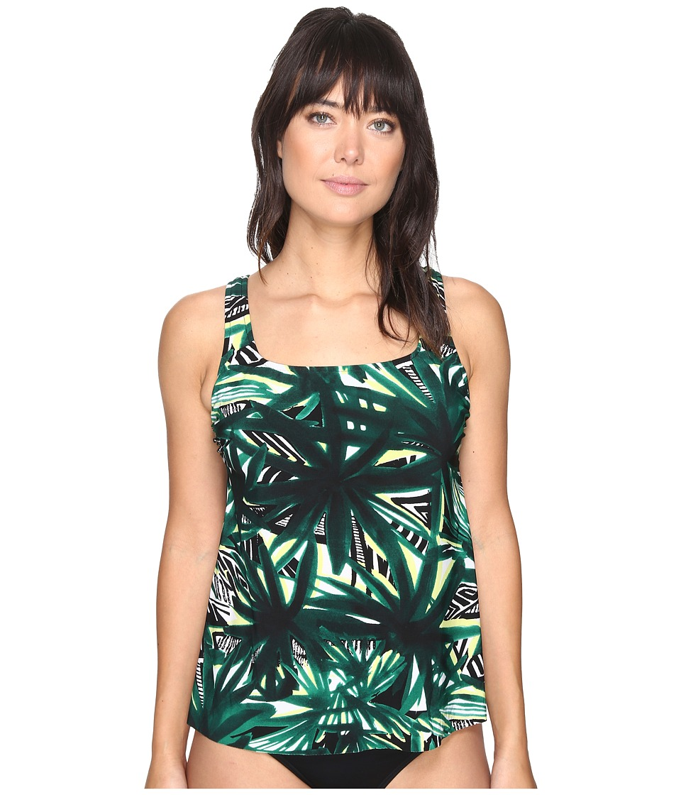 Magicsuit - Barbados Reese Soft Cup Tankini Top (Green) Women's Swimwear