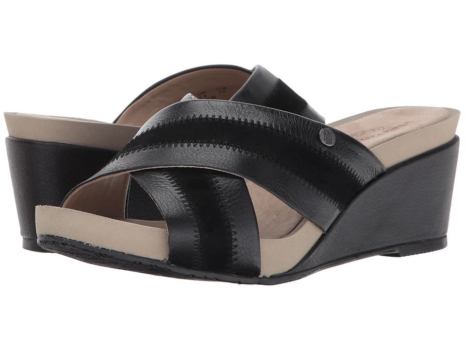 Hush Puppies - Envoi Cassale (Black Leather/Suede) Women's Wedge Shoes