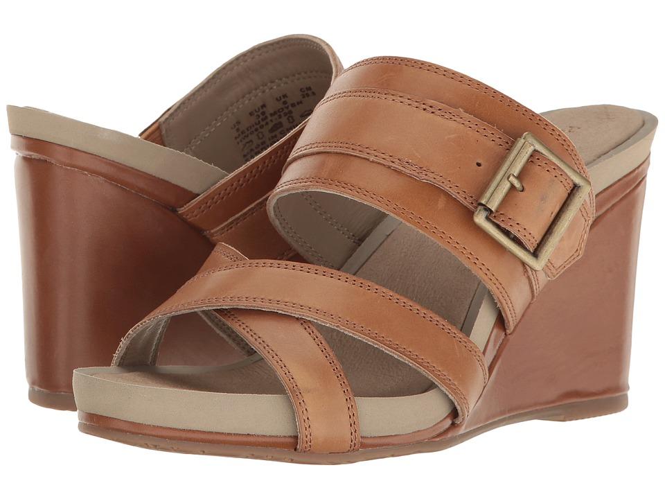 Hush Puppies - Finola Montie (Tan Leather) Women's Wedge Shoes